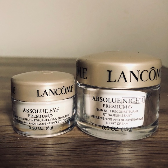 Lancôme deluxe sample size face and eye cream set NWT